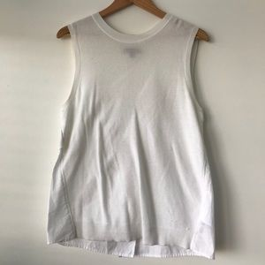 Banana Republic Sweater Cotton White Tank Top